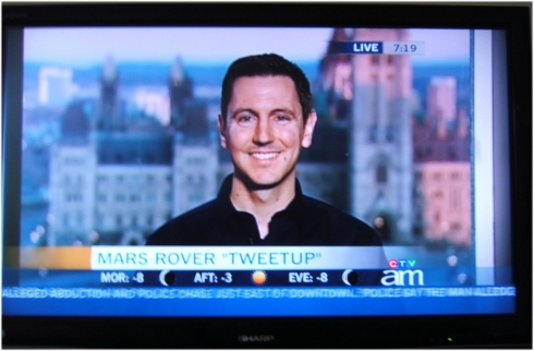 MSL Tweetup on Canada AM