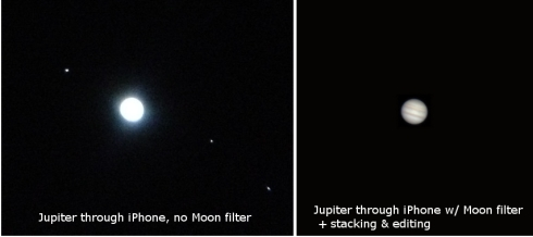Jupiter iPhone telescope