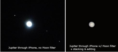 Jupiter iPhone telescope